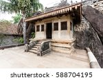 rock temple decorated with the... | Shutterstock . vector #588704195