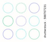collection of vector graphic... | Shutterstock .eps vector #588707231