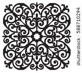 hand drawn sample for tile in... | Shutterstock .eps vector #588710294