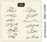 set of decorative elements for... | Shutterstock .eps vector #588713489