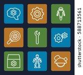 mechanical icons set. set of 9... | Shutterstock .eps vector #588713561