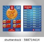 fast food flyer design vector... | Shutterstock .eps vector #588714614