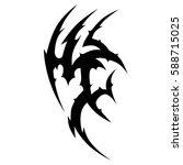 tattoo tribal vector design...   Shutterstock .eps vector #588715025
