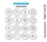 business icons. businessman ... | Shutterstock . vector #588715229