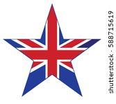 united kingdom of vector flag ... | Shutterstock .eps vector #588715619