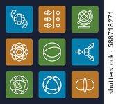 orbit icons set. set of 9 orbit ... | Shutterstock .eps vector #588718271