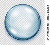 big transparent light blue...   Shutterstock .eps vector #588718385