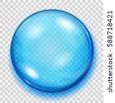 big transparent blue sphere... | Shutterstock .eps vector #588718421