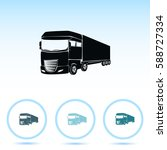 truck icon. lorry symbol | Shutterstock .eps vector #588727334