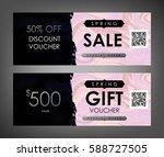 gift certificate  voucher ... | Shutterstock .eps vector #588727505