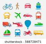 transport colorful icons | Shutterstock . vector #588728471