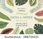 wedding invitation card ...   Shutterstock .eps vector #588734231