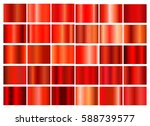 red gradient collection for... | Shutterstock .eps vector #588739577