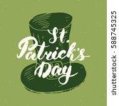 happy st patrick's day vintage... | Shutterstock .eps vector #588745325