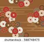a japanese style floral pattern ...   Shutterstock .eps vector #588748475