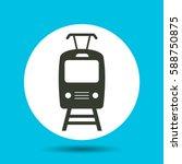 tram icon. flat vector...   Shutterstock .eps vector #588750875