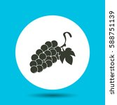 grapes icon. flat vector...   Shutterstock .eps vector #588751139
