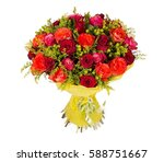 colorful flower bouquet from... | Shutterstock . vector #588751667