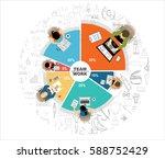 flat design illustration... | Shutterstock .eps vector #588752429