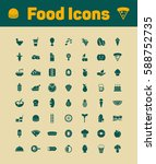 food icons set | Shutterstock .eps vector #588752735