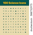 100 science icons set | Shutterstock .eps vector #588752975