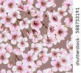 watercolor seamless pattern... | Shutterstock . vector #588753191