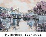 original painting of european...   Shutterstock . vector #588760781