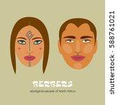 berbers   the indigenous... | Shutterstock .eps vector #588761021