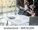 team process  business adviser... | Shutterstock . vector #588761204