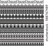 vector set of floral elements.... | Shutterstock .eps vector #588767489