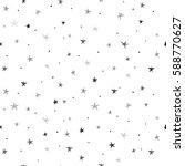hand drawn vector seamless star ... | Shutterstock .eps vector #588770627