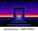 Neon 80s Styled Massive Gate I...