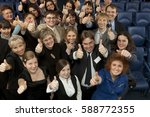 large group of business people... | Shutterstock . vector #588772355