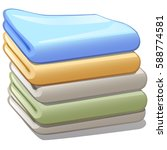 stack of colorful towels... | Shutterstock .eps vector #588774581