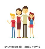 family portrait at the simple... | Shutterstock .eps vector #588774941