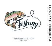 Fishing Logo. Hand Drawn...