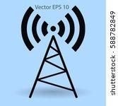 radio wawe picture illustration | Shutterstock .eps vector #588782849