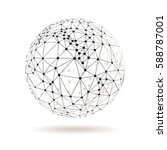 abstract dotted sphere vector... | Shutterstock .eps vector #588787001