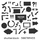 set of hand drawn arrows and... | Shutterstock .eps vector #588789455