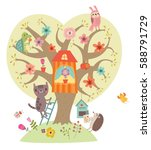 Sweetheart Illustration. Tree...