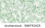 green seamless leaves isolated... | Shutterstock .eps vector #588792425