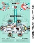 infograph brochure template... | Shutterstock . vector #588794531