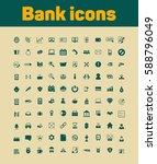 bank icon set | Shutterstock .eps vector #588796049