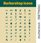 barbershop icon set | Shutterstock .eps vector #588796061