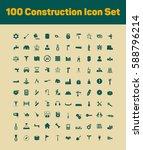 100 construction icon set | Shutterstock .eps vector #588796214