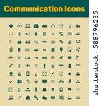 communication icon set | Shutterstock .eps vector #588796235