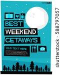 best weekend getaways travel... | Shutterstock .eps vector #588797057
