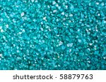 blue scented salt texture - stock photo