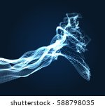 array with dynamic emitted... | Shutterstock .eps vector #588798035