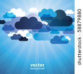abstract cloud background vector | Shutterstock .eps vector #58879880